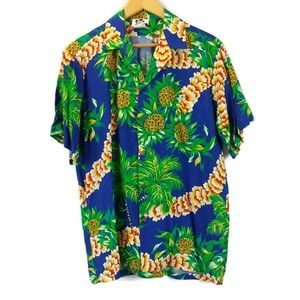VTG Hilo Hattie Hawaiian Print Short Sleeve Shirt